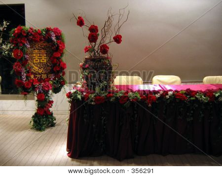 Reception Of A Wedding Party