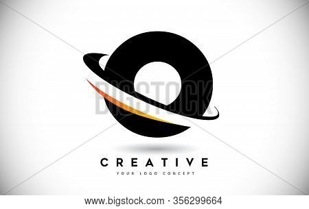 O, Swoosh, Curved, Rounded, Round, Cut, Logo, Letter, Design, Creative, Typography, Logo, Corporate,