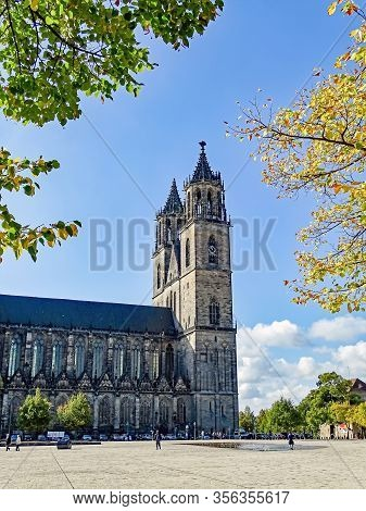 Exterior View Of The Cathedral Of Magdeburg In Germany