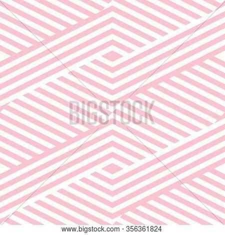 Vector Geometric Lines Seamless Pattern. Modern Texture With Diagonal Stripes, Broken Lines, Chevron