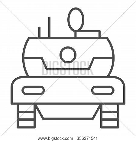 Modern Tank Thin Line Icon. Combat Fighting And Attack War Vehicle Symbol, Outline Style Pictogram O