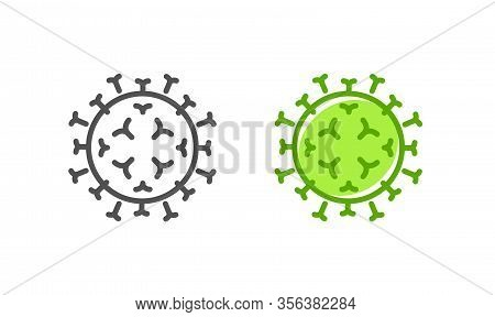 Mers Cov, Mers Corona Icon. Respiratory Syndrome Coronavirus Vector