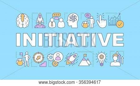Initiative Word Concepts Banner. Business Success. Startup Launch. Smart Goals Achieving. Skill Impr