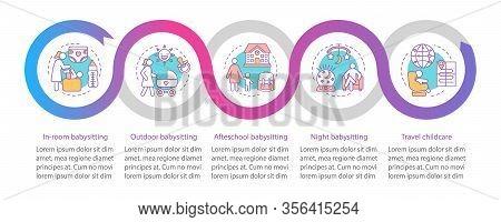 Hotel Babysitting Service Vector Infographic Template. Business Presentation Design Elements. Night,