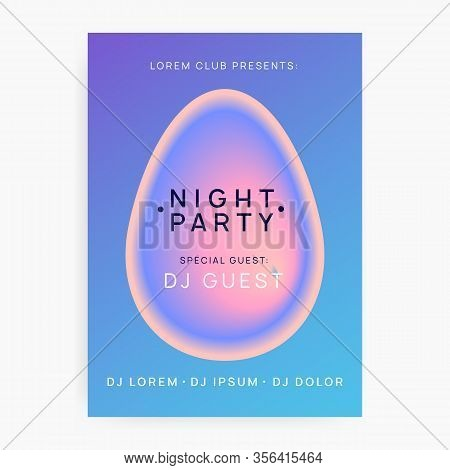 Music Fest. Commercial Techno Show Banner Design. Electronic Sound. Night Dance Lifestyle Holiday. F