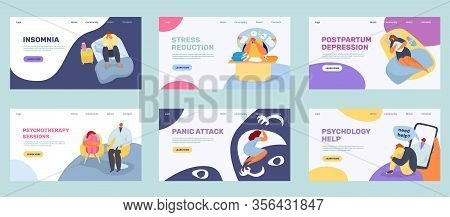 Lonely Stress People Vector Illustration. Cartoon Sad Unhappy Man Woman, Depressed Tired Person Upse