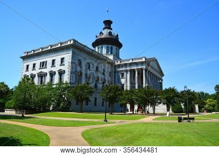 Columbia South Carolina June 24 2016: South Carolina State House Is The Building Housing The Governm