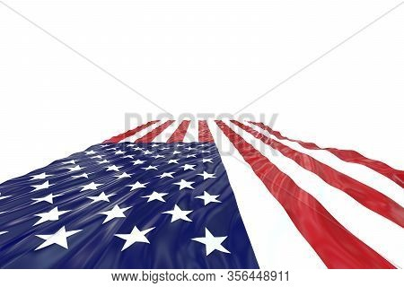 Usa Flag. United States Of America National Symbol. American Flag Of United States Of America Isolat