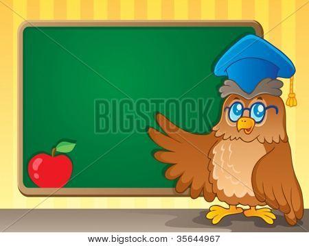 Schoolboard theme image 2 - vector illustration.