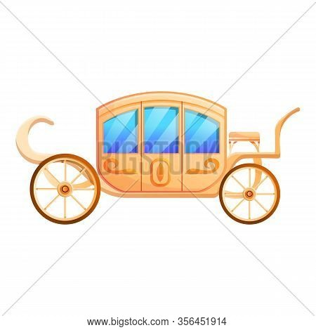 Wedding Carriage Icon. Cartoon Of Wedding Carriage Vector Icon For Web Design Isolated On White Back