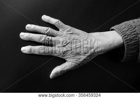 80 Years Old Woman's Hand, Old Human Hand With Veinsvery Old Human Hand With Veins,