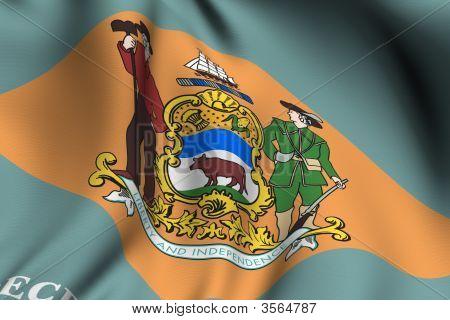 Rendered Delaware Flag