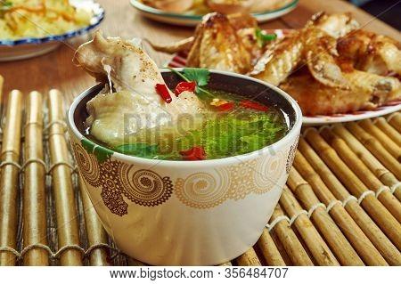 Kurdish Fried Chicken In Broth