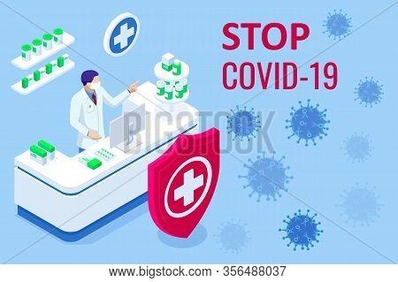 Pandemic Chinese Coronavirus Covid-19. Coronavirus Outbreak, Coronaviruses Influenza As Dangerous Fl