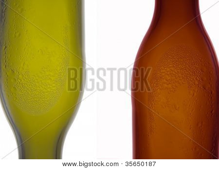 Abstract an isolated photo with bottles