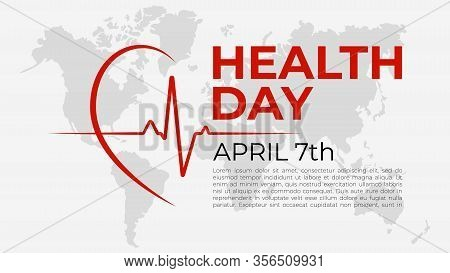 World Health Day Concept. Template, Poster Or Banner For April 7, World Health Day. Vector Illustrat