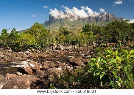 View Of Kukenan Table Mountain, La Gran Sabana, Canaima National Park, Venezuela