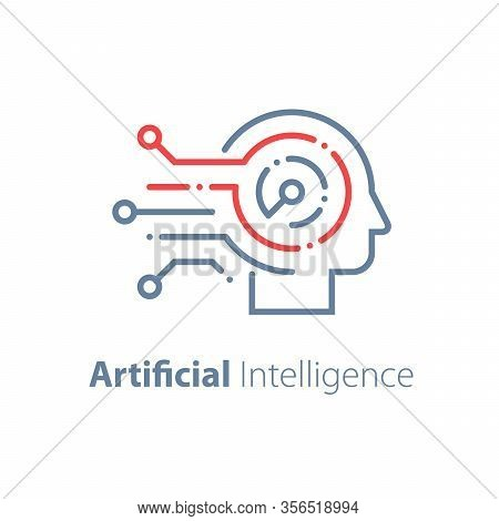 Artificial Intelligence Concept, Machine Learning, Robot Technology And Innovation, Skill Improvemen