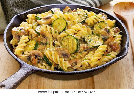 Pasta Bake With Mushrooms And Courgettes