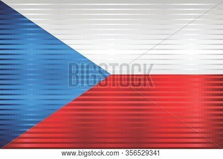 Shiny Grunge Flag Of The Czech Republic - Illustration,  Three Dimensional Flag Of Czech Republic