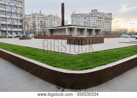 Bucharest, Romania - March 4, 2020: Holocaust Memorial Dedicated To The Hundreds Of Thousands Of Rom