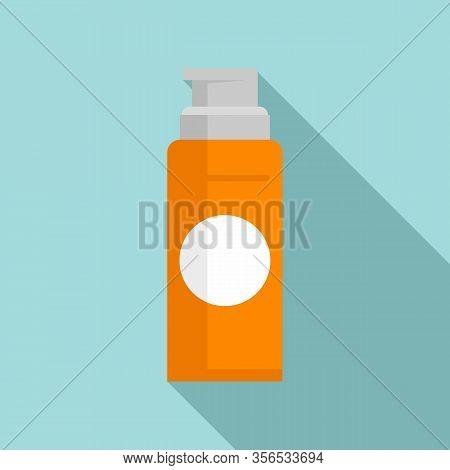 Barber Shaving Foam Icon. Flat Illustration Of Barber Shaving Foam Vector Icon For Web Design