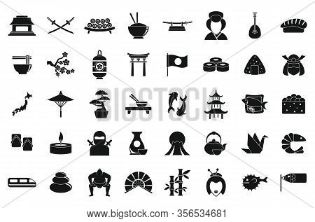 Japan Icons Set. Simple Set Of Japan Vector Icons For Web Design On White Background