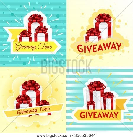 Giveaway Posters Template Design For Social Media Post Or Website Banner. Giveaway Winner Poster. Gi