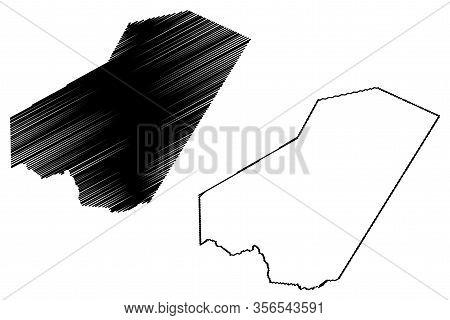 Ali Sabieh Region (republic Of Djibouti, Horn Of Africa, Gulf Of Aden) Map Vector Illustration, Scri