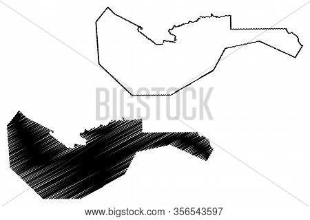 Arta Region (republic Of Djibouti, Horn Of Africa, Gulf Of Aden) Map Vector Illustration, Scribble S