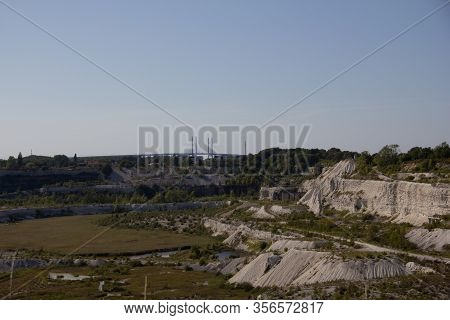 The Vast Limestone Quarry, A Scar In The Ground, Is No Longer Used. Instead It Is A Protected Area I