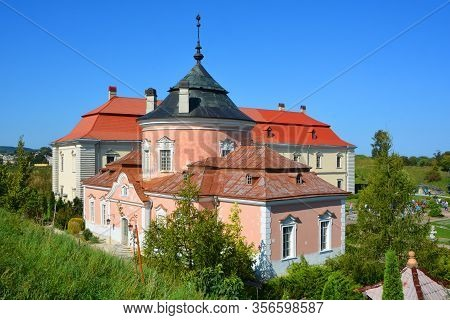 Zolochiv Ukraine 09 14 17:  Zolochiv Castle Is Comprised Of The Huge Rectangular Grand Palace And Th