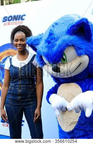 LOS ANGELES - JAN 25:  Tika Sumpter at the Sonic The Hedgehog Family Day Event at the Paramount Theatre on January 25, 2020 in Los Angeles, CA