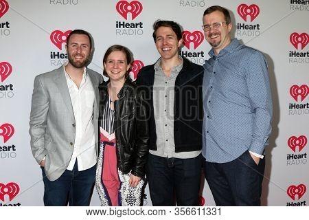 LOS ANGELES - JAN 17:  Paolo Mottola, Chelsea Davis, Nick Patri, Weston Davis at the 2020 iHeartRadio Podcast Awards at the iHeart Theater on January 17, 2020 in Burbank, CA