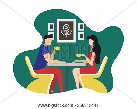 Coworking Rest And Relaxation Area Cartoon Flat. Resource Sharing Model To Reduce Operating Costs. P