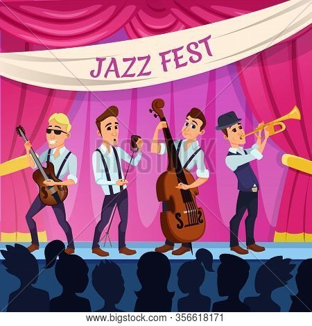Informative Flyer Entertainment Jazz Fest Flat. Attractive Event For Profitable Sale Their Own Produ
