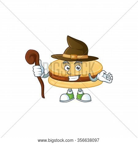 Sweet And Tricky Witch Brown Alfajor Cartoon Character