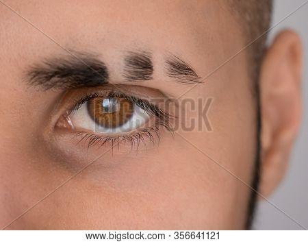 Eyebrow Scar, The Look Of A Man With Brown Eyes , Eye Scar