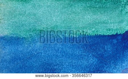 Photo Watercolor Paper Texture. Abstract Blue Watercolor Background. Wet Watercolor Paper Texture Ba