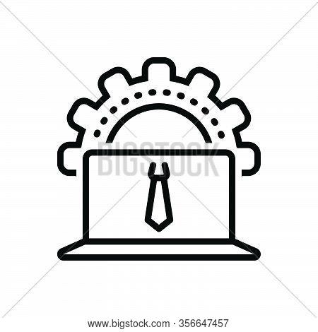 Black Line Icon For Administrator Organizer User Cogwheel Management Keeper-of-archives Skills