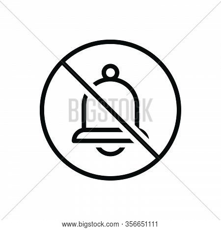 Black Line Icon For None Prohibited Ban Danger Bell No Stop Risk Warning Caution Circle