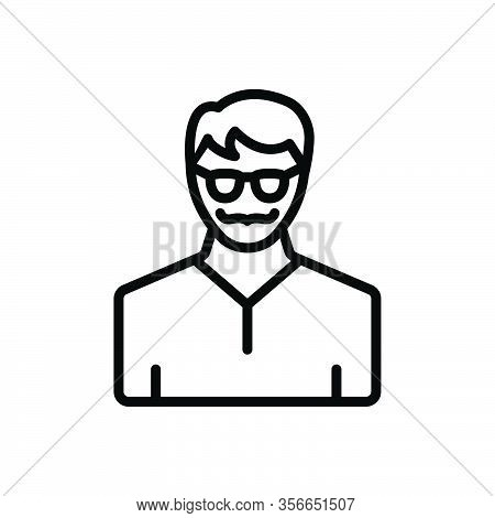 Black Line Icon For Elite People Person Human Avatar Incarnation