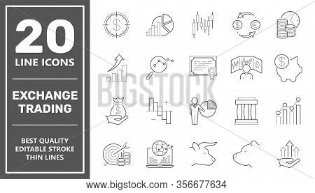 Online Trading Flat Illustration Concept. Modern Flat Design Concepts For Web Banners, Advertising,