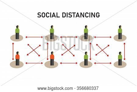 Social Distancing Illustration Of Avoiding Transmission Through Contact