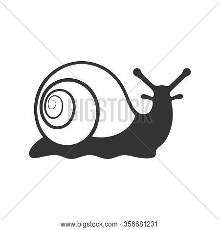 Snail Graphic Icon. Snail Sign Isolated On White Background. Vector Illustration
