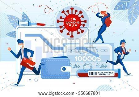 Wuhan China Novel Coronavirus Stop Business. Human Panic Due To Financial Crisis And Covid19 Virus I
