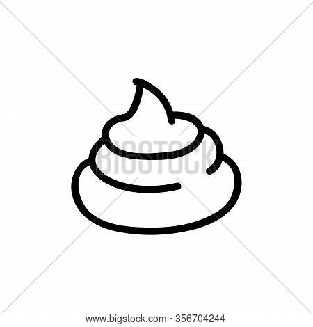 Shit A Big Pile Icon Vector. Shit A Big Pile Sign. Isolated Contour Symbol Illustration