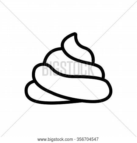 A Big Pile Of Shit Icon Vector. A Big Pile Of Shit Sign. Isolated Contour Symbol Illustration