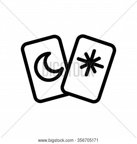 Card Guess Icon Vector. Card Guess Sign. Isolated Contour Symbol Illustration