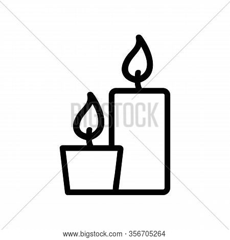 Candle Wizard Icon Vector. Candle Wizard Sign. Isolated Contour Symbol Illustration
